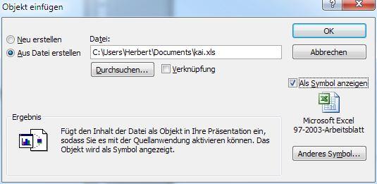 PowerPoint - Allgemeine Tipps - Datei einfügen und öffnen