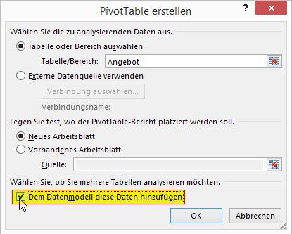 Excel - Datenverwaltung und -bearbeitung - PivotTable mit ...